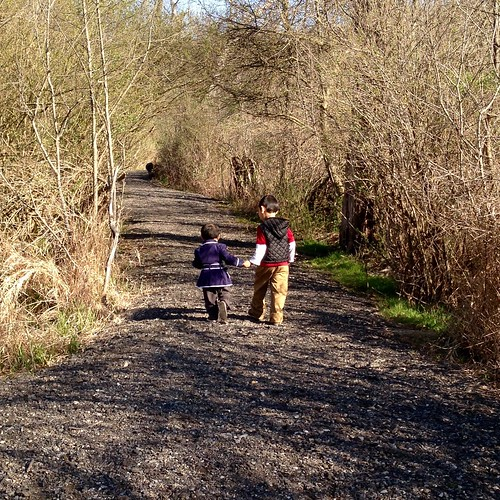 Taking a walk on the trail together
