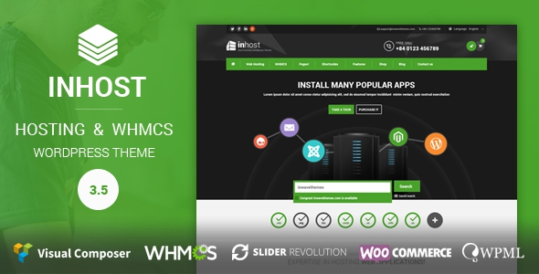 Themeforest InHost v1.0 | Hosting, WHMCS WordPress Theme