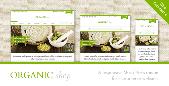 Organic Shop v2.7.2 - Responsive WooCommerce Theme