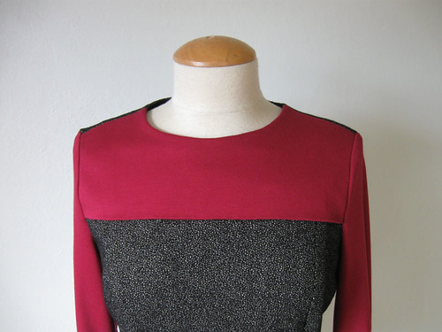 red grey neckline