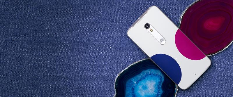 Moto X Pure Edition, Jonathan Adler designs, phone, half circle, dot