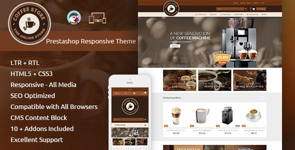 ThemeForest Coffee – Prestashop Responsive Theme