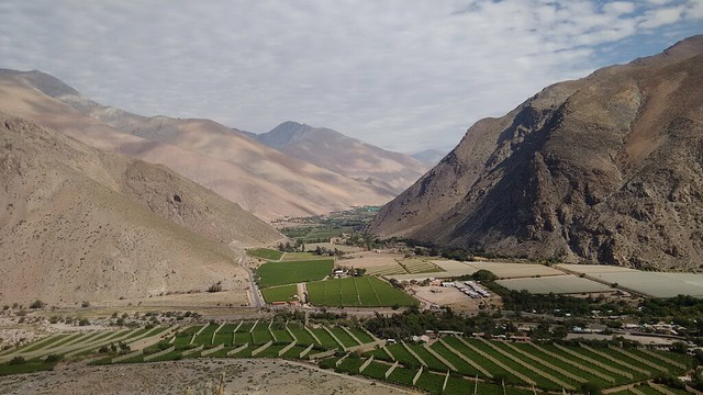 Views towards Paihuano, from Rivadavia, Valle de Elqui, Chile