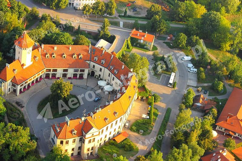 Pałac w Pułtusku z bardzo bliska.