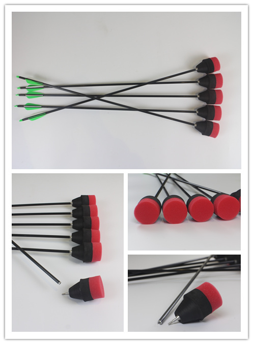 Black foam tipped arrows