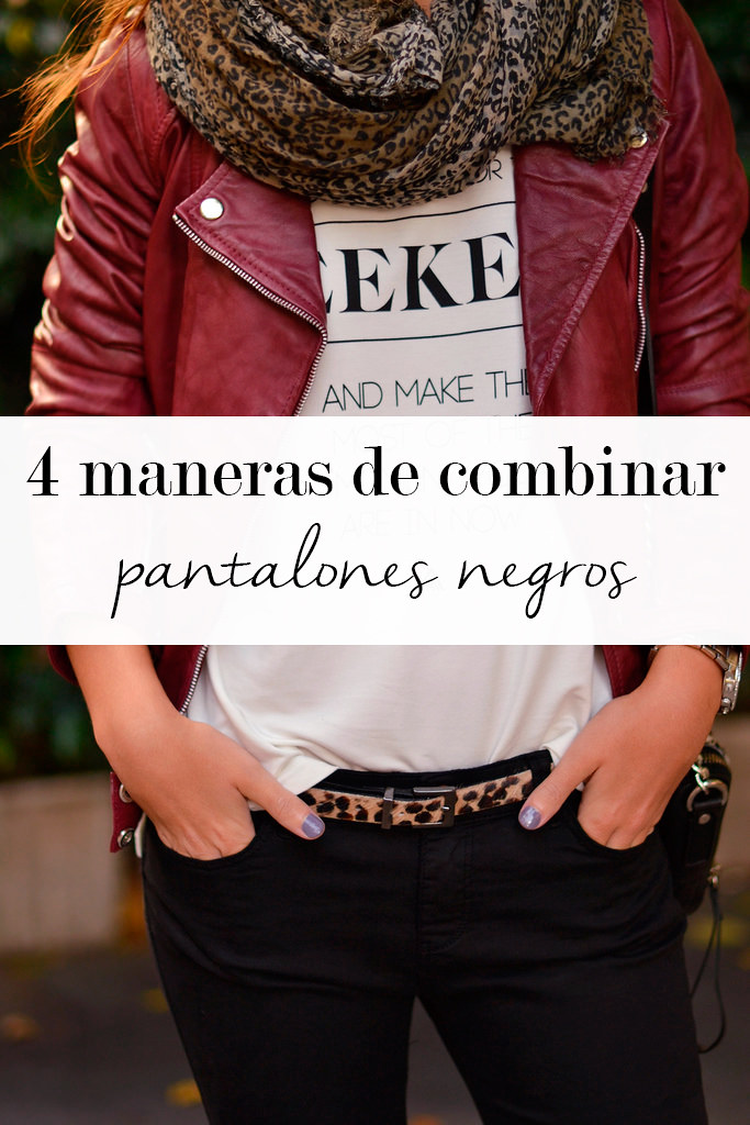 4 maneras de combinar pantalones negros