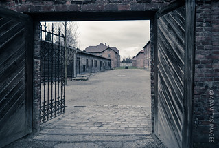 A view from the execution yard (Auschwitz)