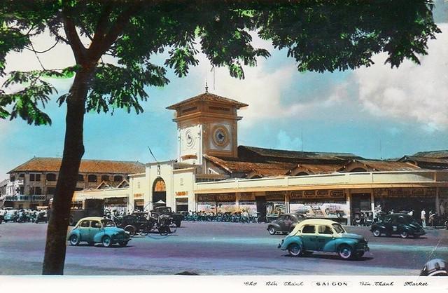 Chợ Bến Thành - Postcard 1962