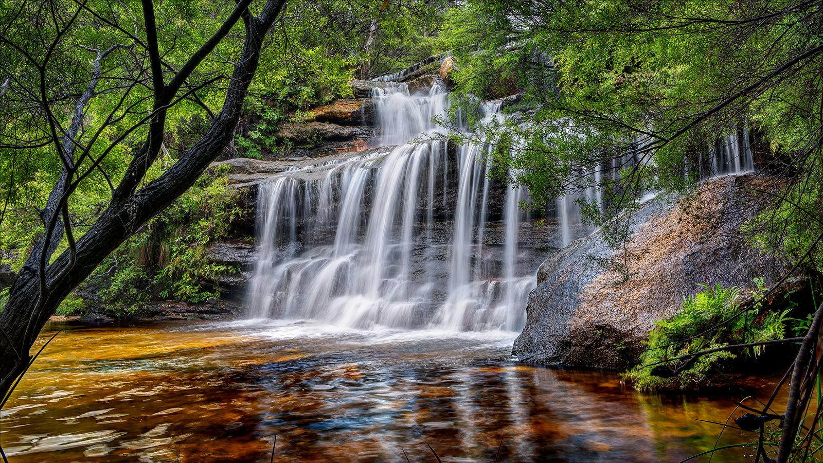 Wentworth Falls, Australia [1600x900]