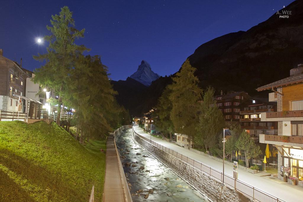 Nightfall in Zermatt