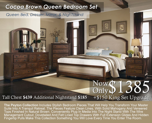Cocoa Brown Bedroom Set