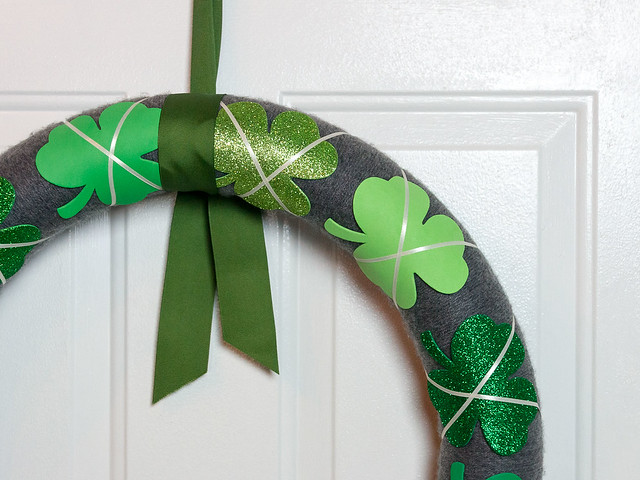 Pool Noodle St Patrick's Day Wreath