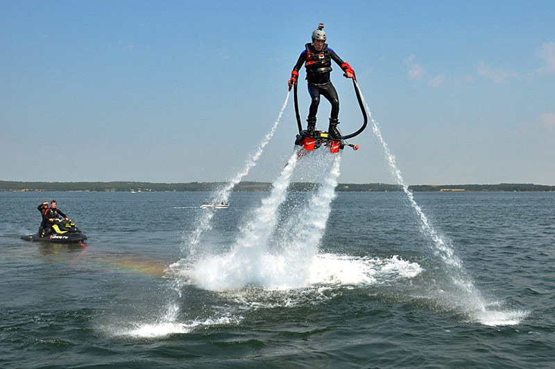 Rick Mercer Flyboarding with Canadian Jet Adventures in the Okanagan Valley, British Columbia
