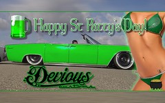 Today is a day like no other you can drink green beer and fist fight!!! I wish all you Irish a happy holiday and for the rest drink up and I'll see you in the hospital. #gobedevious #irish #stpatricksday #sancho #Lincoln @slamd_mag @suicide_slabs
