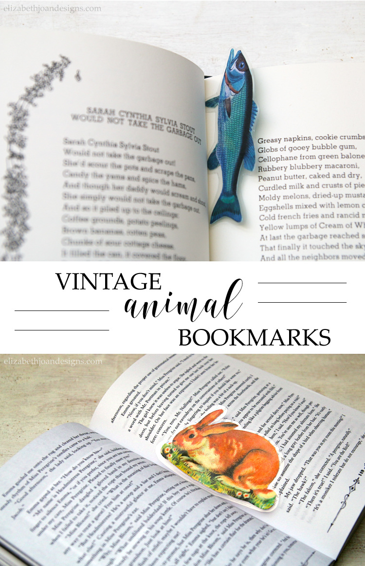 Vintage Animal Bookmarks - learn how to make your own