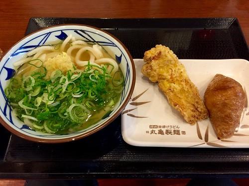 かしわ天とお稲荷さん@丸亀製麺