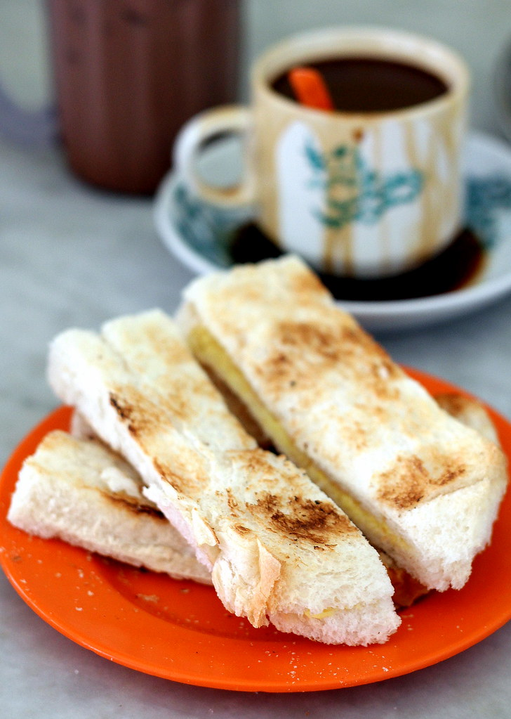 Malacca Food Guide: Lung Ann Refreshment Kopitiam Traditional Kaya Toast
