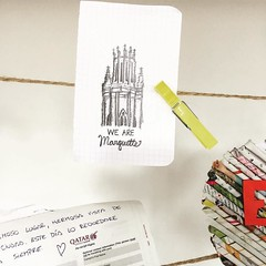 Notes left at the Cathedral of St. Bartholomew in Pilsen, Czech Republic. @eiselein added to that collection. Where are you traveling for #springbreak? #WeAreMarquette