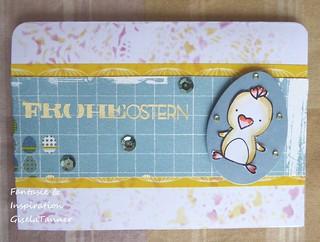 Osterkarten aus gedruckten Papieren
