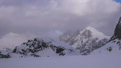 Szczyt Piz Sella 3500m z przełęczy Passo Marinelli Orientale 3094m