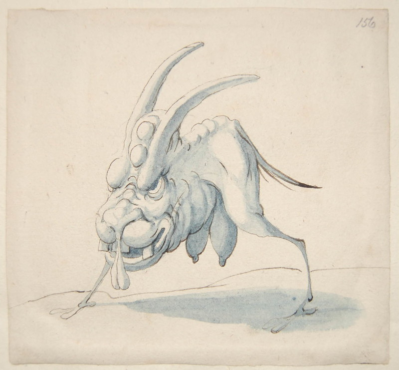 Arent van Bolten - Monster 156, from collection of 425 drawings, 1588-1633