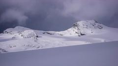 Nasz cel - Pizzo Malenco 3488m. Na lodowcu Vedretta di Scerscen.