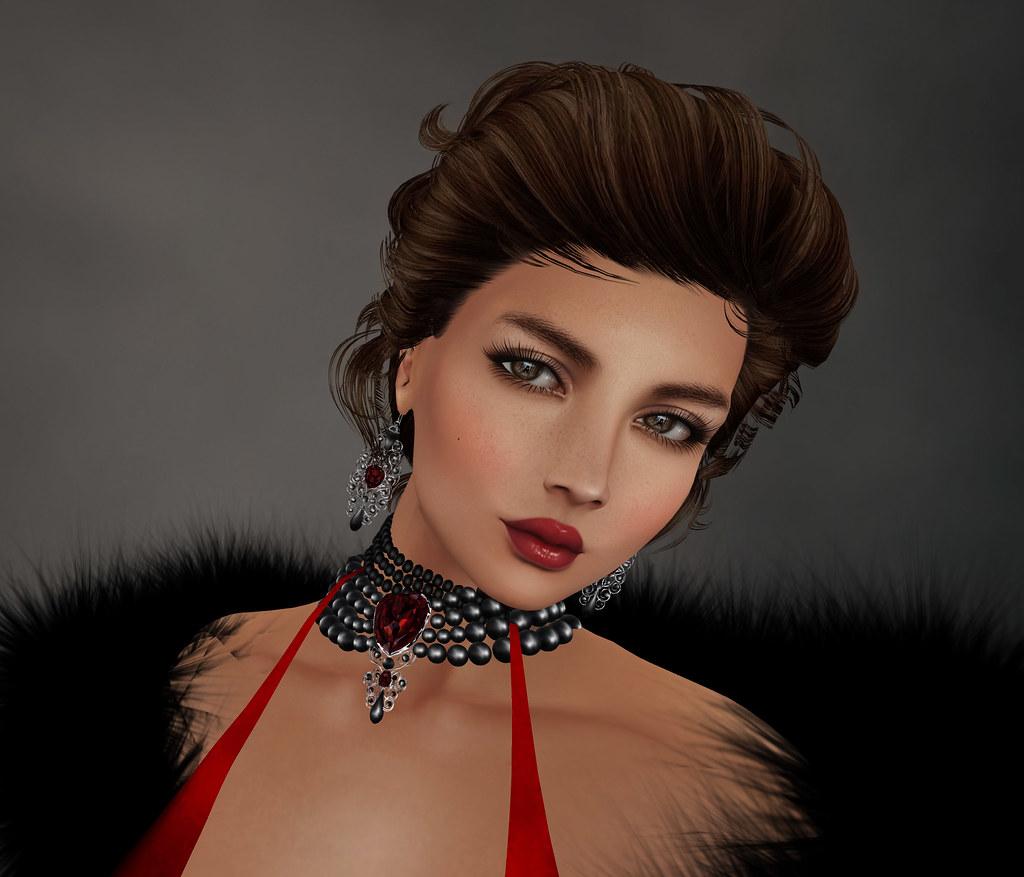 Rezology hair, DeeTaleZ catwa applier and lipstick, Zuri Rayna jewelry