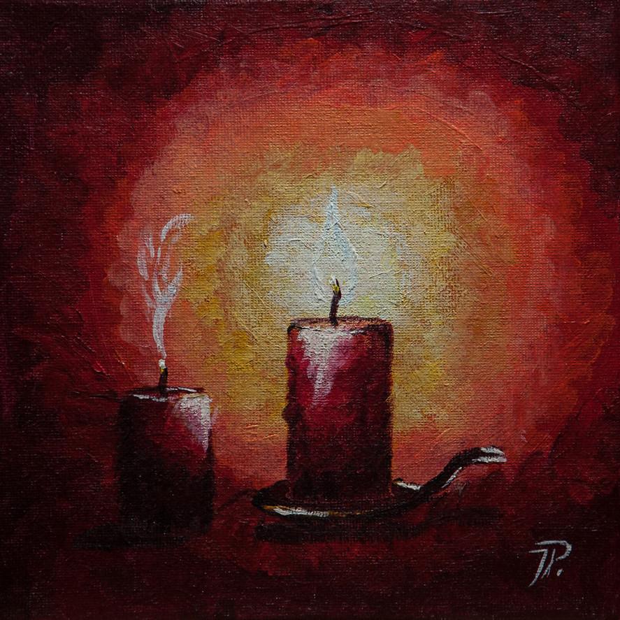 Kerze im Ständer