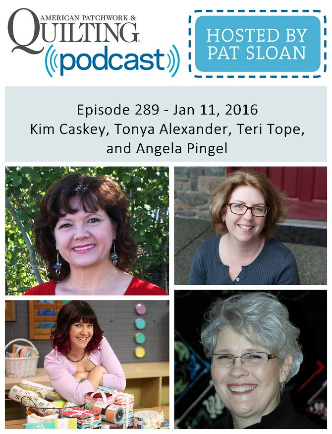 2 American Patchwork Quilting Pocast episode 289 Jan 11 2016
