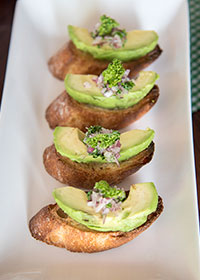 Avocado Toasts with Red Onion Relish