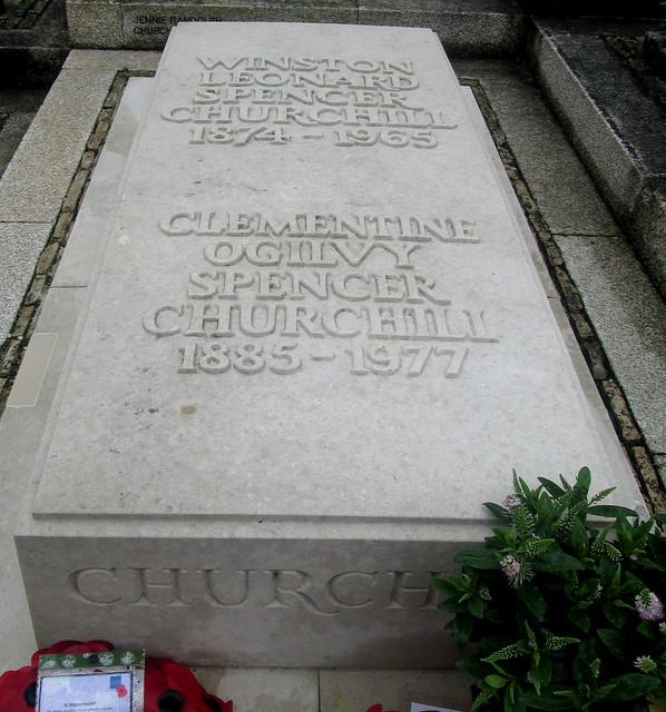 Churchill's Grave Inscription