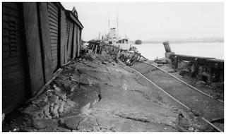 1931 Hawkes Bay Earthquake - Port Ahuriri - HMS Veronica at Wharf