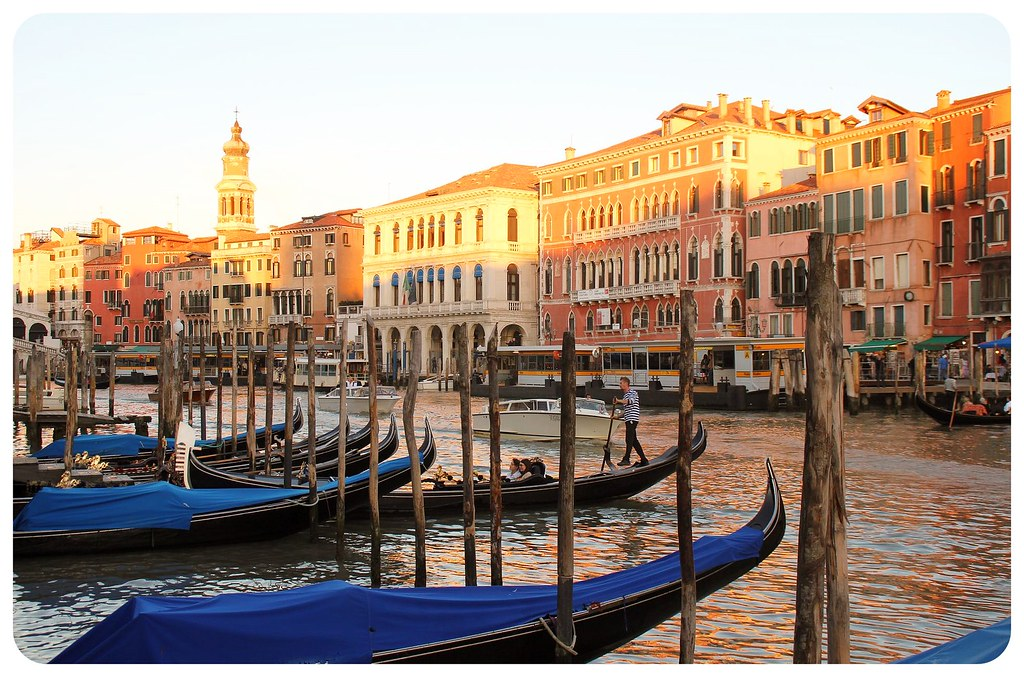 venice grand canal before sunset