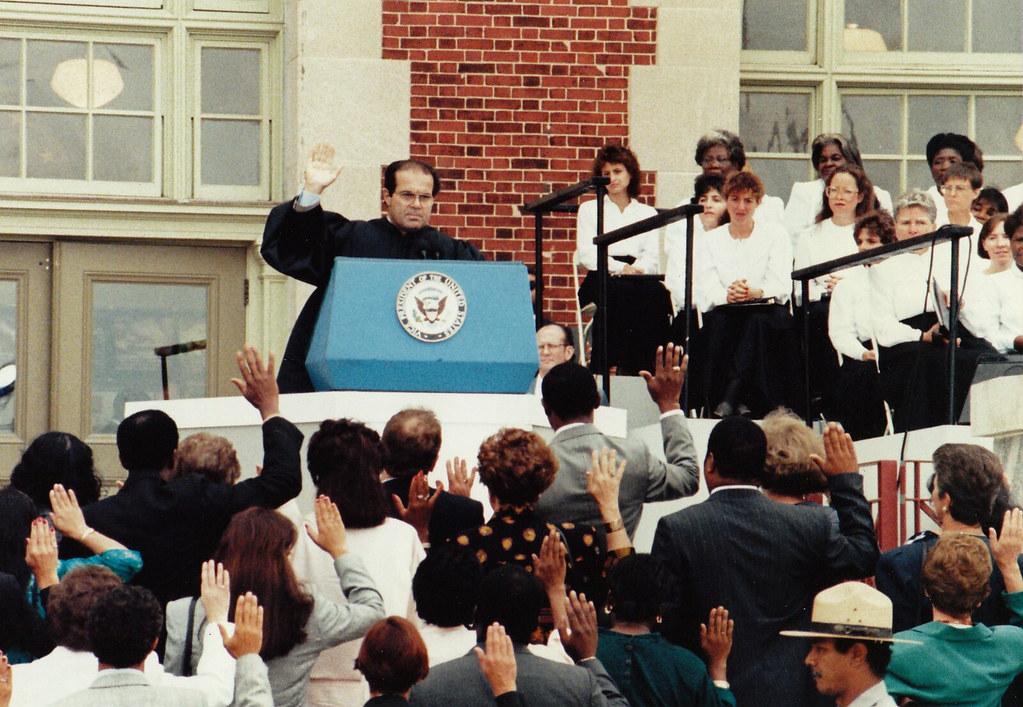 U.S. Supreme Court Justice Antonin Scalia -- Ellis Island (NY/NJ) September 1990