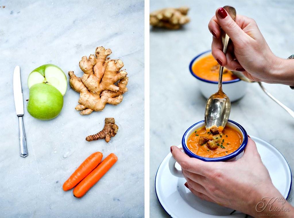 crema di carote curcuma e zenzero
