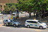 Le Cap : taxis en attente de clientèle
