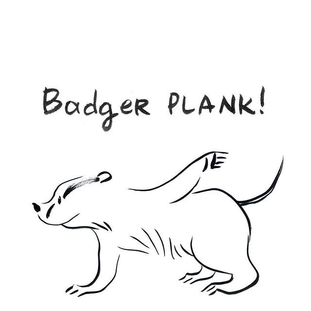 Badger plank #badger #badgerlog  #plank #plankchallenge #parenting