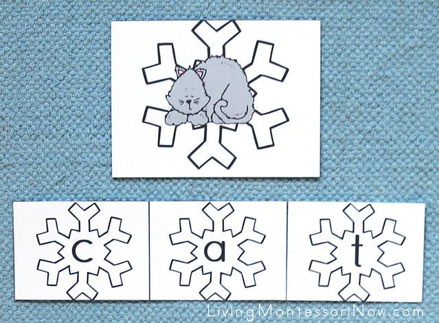 Snowflake Movable Alphabet CVC Spelling