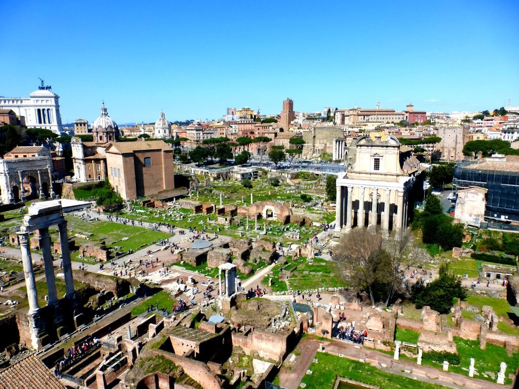 Former economic, social and political center of Rome.man Forum Arch