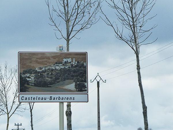 pancarte castelnau barbarens