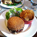 Montecito - the burger, chips, and salad