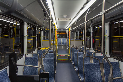 King County Metro Proterra Catalyst interior looking back