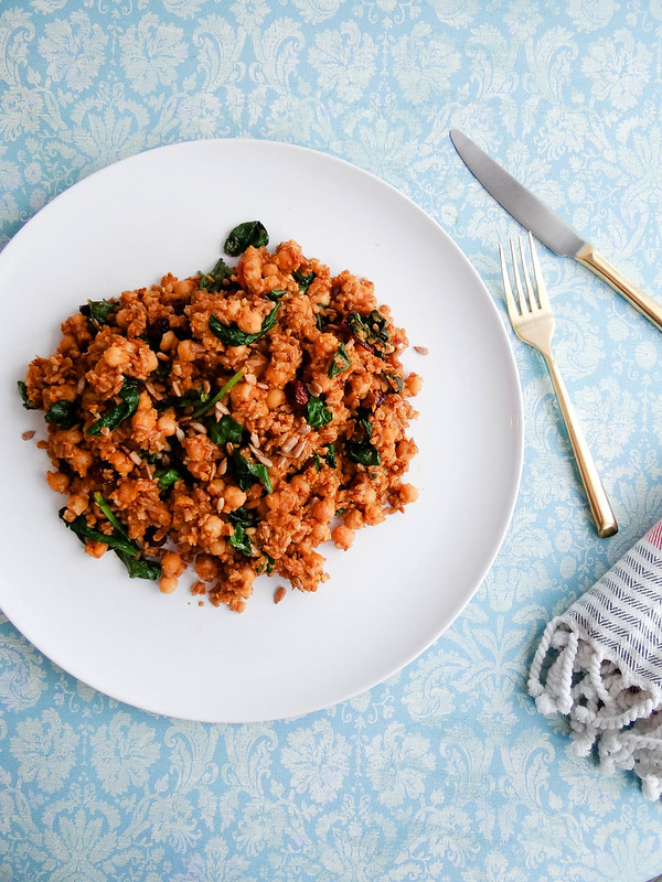 Farro Salad // Sweet Potato + Chickpeas