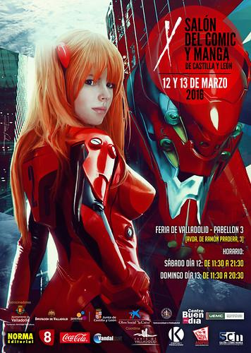 X Salón del Cómic y Manga de Castilla y León. Carteles oficiales.