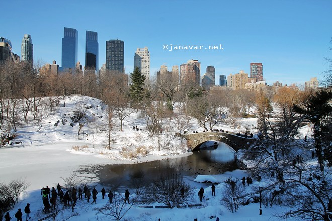 Travel: New York City in snow