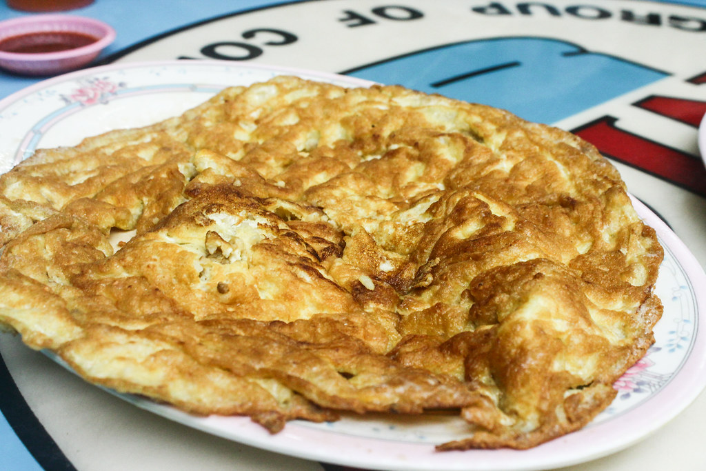 Cheap Eats in Woodlands: 834 Eating House - Egg omelette with garlic