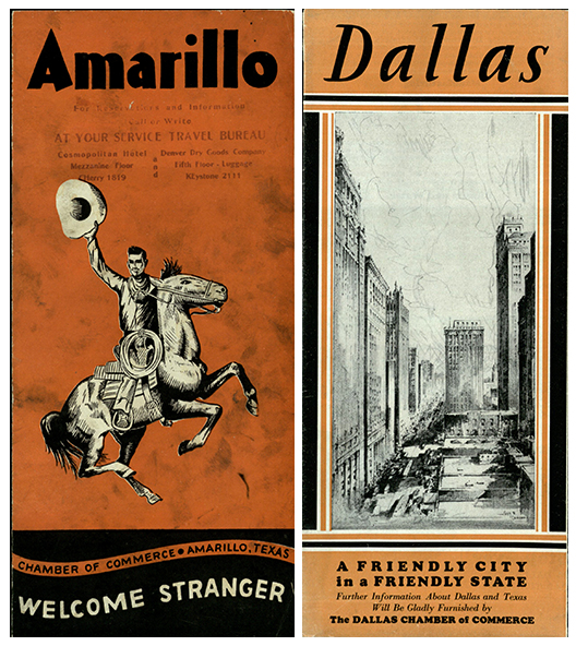 McCarty, John L. Amarillo: Welcome Stranger. Amarillo: Chamber of Commerce, [1940]. Dallas: a Friendly City in a Friendly State