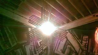 copper star, illuminated