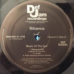 RIHANNA:MUSIC OF THE SUN(LABEL SIDE-C)