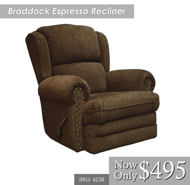 Braddock Espresso Recliner